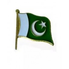 Pakistani Flag Metal Badges