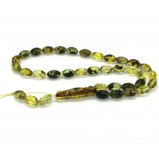 Real Natural Baltic Amber 33 Islamic Prayer Beads Olive Misbaha Tasbih