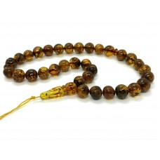 Islamic 33 Prayer Beads Natural Baltic Amber Rosary Tasbih Misbaha