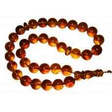Islamic 33 Prayer beads Genuine Baltic Pressed Amber Tasbih rosary